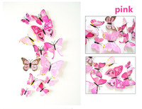 Wholesale Magnetic Butterflies - Cinderella butterfly 3d butterfly decoration wall stickers 12pc 3d butterflies 3d butterfly pvc removable wall stickers butterflys in stock