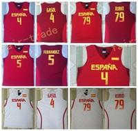 Wholesale Home Fashions - 2017 RIO Spain Team Jersey 5 Fernandez 4 Pau Gasol Spain Shirts Uniform 79 Ricky Rubio Fashion Rev 30 New Material Home Color Red White