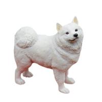 venda de figuras de resina venda por atacado-Estando a estátua Collectible do cão da estatueta do cachorrinho do Samoyed 5