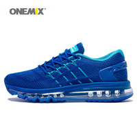 Wholesale Snow Rubber Shoes Sole - ONEMIX Mens Running Shoes for Men Unique Shoe Tongue Athletic Trainers Zoom Sports Shoe 2017 Air Cushion Shox Sole Outdoor Walking Sneakers