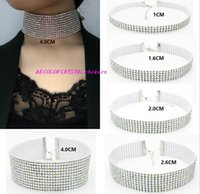 Wholesale Dress Bibs - Women Party Dress Necklace AB Crystal Chokers Necklaces Bridal Wedding Shining Rhinestone Bib Collar Necklace Jewelry GY