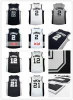 Wholesale Lamarcus Aldridge Jersey - Men's 2 Kawhi Leonard Basketball Jerseys Kid's Youth 12 LaMarcus Aldridge Adult Embroidery 21 Tim Duncan 50 David Robinson Throwback Jersey