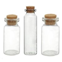 Wholesale wholesale tiny glass bottle vials - Wholesale- Glass Bottles Small Vase Tiny Bottles Jewelry Vial Potion Glass & Wooden Box Wishing Gift Jewelry Storage Boxes Organizer 5PCs