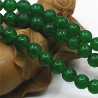 Wholesale 14mm White Stone Beads - 4mm 6mm 8mm 10mm 12mm 14mm Accessory Malay Jade Stones Gems DIY Jasper Loose Round Beads Jewelry Making 15inch Women Girls Gifts
