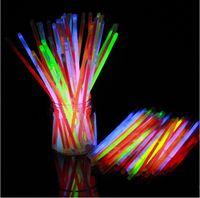 Wholesale Bright Glow Sticks - Wholesale- 100pcs Multi Color Fun Glow Fluorescence Stick Bracelets Neon Bright LED Toy Light For Xmas Party Event Decoration