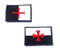 Wholesale Fabric Armbands - Knights Templar Patch 3D Embroidery Cross Tactical Patches Cloth Morale Armband Knights of Teutonic Order Morale Badge 3pcs