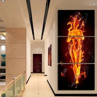 Wholesale 3pcs oil painting - 3pcs set Lengthways Unframed Fired Girl Figure Painting Abstract Oil Painting On Canvas Giclee Wall Art Painting Art Picture For Home Decor