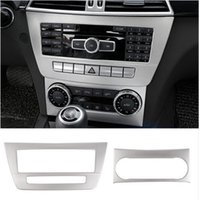 Wholesale Console 3d - Stainless Steel Car Center Console Air Conditioning CD Panel Decorative Cover Trim Strips For Mercedes Benz C class W204 2011-14