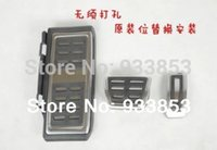 Wholesale Pedals Brake Gas - Wholesale-2014 Stainless Steel Automatic Transmission AT Pedal (Include Footrest+Gas+Brake Pedal) For LHD VW Golf MK7 7 VII