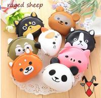 Wholesale Super Cute Korean - 100pcs Set Super Korean cute animal Mini silicone coin Purse Lovely children purse( including:cat,duck,bear,fox,frog,owl,pigFree Shipping