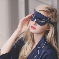 Wholesale Sleep Mask Cartoon Eyes - Best Duplex Silk Breathable Shading Sleep Eye Mask Cute Cartoon Fox Silk Embroidery Goggles For Women 8 Colors Available