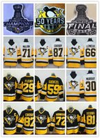 Wholesale Army Cup - 2017 Stanley Cup Final Champions Pittsburgh Penguins Jersey 87 Sidney Crosby 59 Jake Guentzel 71 Evgeni Malkin 81 Phil Kessel 58 Kris Letang