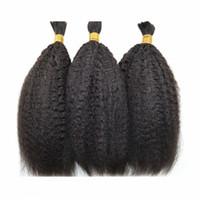Wholesale human hair attachment for braids online - Brazilian Kinky Straight Human Hair For Braiding Bulk No Attachment Human Braiding Hair For Black Women