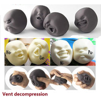 Wholesale Caomaru Face Stress Ball - Wholesale Caomaru Vent Human Face Ball Anti-stress Ball of Japanese Design Caomaru brown Adult Kids Funny fidget spinner Toy Gift M0386