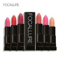 Wholesale Velvet Texture - FOCALLURE 12 Colors Matte Lips Velvet Texture Lipstick Long Lasting Waterproof Matte Lip Stick Matte Lip Makeup FA07