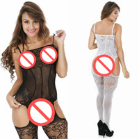 Sexy Erotic Lingerie Women Hot Open Crotch Fishnet Bodystocking Сексуальные костюмы плюс размер Lenceria Сексуальный костюм для тела Erotica Mujer