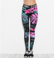 2017 nuove donne Yoga Outfits moda digitale 3D floreale stampato yoga pantaloni signore dimagrande Fitness Sweatpants Casual