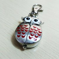 Unisex owl keychain watch - The owl watch Keychain watch owl wings open metal shell other color is optional