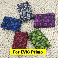 Wholesale Evic Wraps - new design Skull Fashion colorful silicone Soft case skin   silicone cover   silicone sleeve for joytech evic primo 200w Box mod Wrap