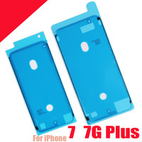 Wholesale Iphone 3m Adhesive Sticker - NEW LCD Waterproof 3M Pre-Cut Adhesive Glue Tape Front Housing Frame Sticker For iPhone 7 4.7 7G Plus 5.5