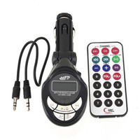 Wholesale 12 Volt Remote Controls - Wholesale- 4 in 1 New Car Vehicle MP3 Player Wireless FM Transmitter Audio Modulator USB CD MMC With Remote Control 12 24 Volt