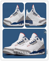 Wholesale Order Cheap Shoes - Cheap Basketball Shoes Retro 3 III 88 True Blue Sport Blue Infrared 23 Men Sneakers Mix Orders Online Discount Sports Shoes Trainer Boots