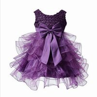 Wholesale Tulle Tutu Boutique - Retail Toddler Girls Birthdays Dresses Beaded Bowknot Boutique Tulle Baby Baptism Christening Dress Costume 0-2 Years L1819XZ