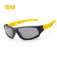 Atacado- New Kids Cycling Óculos de sol Polarized TR90 Soft Rubber Polaroid Children Bike Bicycle Sun Glasses UV400 Outdoor Sport Eyewear