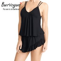 Wholesale Black Sexy Nighties - Burvogue Women Sexy Cami and Shorts Set Pajama Sets Nightgowns Pajamas Sleepwear Nighties Summer Pajamas Sleepwear Sets Homewear