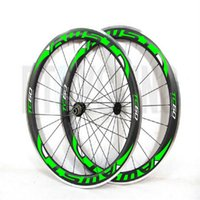Wholesale chinese wheel bike - Hot sell Alloy brake surface carbon wheels 60mm carbon wheelset 23mm width UD weave with Powerway R13 by EMS race Bike Chinese wheels