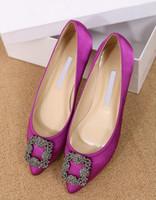 zapato de vestir de tacón bajo beige al por mayor-2016 Zapatos planos Mujer Marca Punta estrecha Zapatos de mujer Tallas grandes Zapatos de vestir de fiesta Zapatos de boda de tacón bajo Tamaño grande