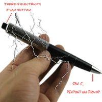 Wholesale Wholesale Prank Items - Funny Electric Shock Pen Teaser Toy Utility Gadget Plastic Gag Joke Prank Trick Novelty Horror Items 14.5cm Magic Pen For Friend's Best Gift