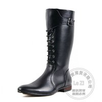 Wholesale Pointy Wedges - Coat Of Paint Low Heeled Mid Calf Buckle Side Zip British Style New Warmth Personality Pointy Winter Cowboy Men Boots Funky