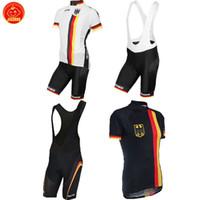 ingrosso bici bibs-NUOVO Personalizzato 2017 Germania Deutschland mtb road RACE Team Bike Cycling Jersey Imposta Bib Shorts Abbigliamento Traspirante JIASHUO Ropa CICLISMO