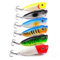 Wholesale fishing lures plastic bass resale online - Original PROBEROS cm g Plastic Hard Popper Fishing Lures Colors Bass Baits
