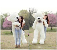 """Wholesale Teddy Bear 72 - 2016 TOYS 6 FEET BIG TEDDY BEAR STUFFED 5 Colors GIANT JUMBO 72"""" size:180cm Embrace Bear Doll lovers christmas  birthday"""
