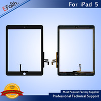 Wholesale Ipad Digitizer Replacement - Wholesale-For iPad 5 iPad Air Black Touch Screen Digitizer Replacement with Home Button+Adhesive & Free DHL shipping