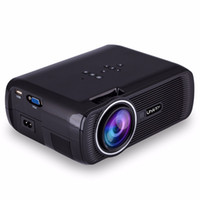 Wholesale Focus Vga - Wholesale-Uhappy U80 LCD Projector 16:9 1000LM 800 x 480 Pixels with AV Audio HDMI VGA USB 2.0 SD Card Slot Focus from 37 to 130 inches