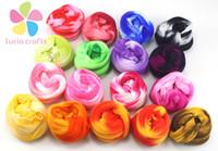 Wholesale Nylon Flowers Stocking - Wholesale-Approx1.5-1.8m twin colors nylon flower stocking making accessory handmade diy crafts (6pcs Lot) D086010015