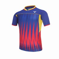 Wholesale Women Athletic Clothing - VICTOR Badminton T-Shirts Quick Dry VICTOR Breathable Jersey Sports Athletic Shirt VICTOR Table Tennis Clothing,Men women sportwear Jersey
