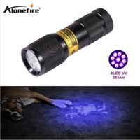 Wholesale Drive World - 9 LED SUPERIA 365-370nm UV Light LED uv Flashlight  Ultraviolet light for uv leak detector (365nm Best world ultraviolet lamp)
