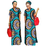 Wholesale Maxi Scarfs - 2017 African Styles Clothing Women Riche Bazin Straight 100% Cotton Material Free Head Scarf Lady Long Dress Maxi Size