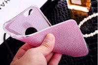 """Wholesale Diamond Logo Iphone - iPhone 6 Case Glitter Powder Soft TPU Cover For iPhone 7 7 Plus 6 Plus 5G 4.7"""" 5.5"""" with Diamond Logo Ring Phone Shell"""