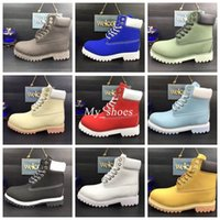 Wholesale burgundy ankle boots - Waterproof Original Quality Martin Ankle Boots Brand New Mens Work Hiking Shoes Leather Outdoor Winter Snow Boots multi colors Size 5.5-13