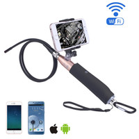 8mm objectif 2MP Caméra d'inspection portative Endoscope HD WIFI endoscope 6 LED Lights Tube pour iOS Android Mobile Phone