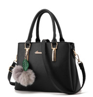 Wholesale Simple Leather Women Bags - new Fashion woman simple fashion handbag women casual tote bag travel jet set PU leather handbags