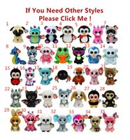 Wholesale Ty Boos Plush - TY beanie boos Plush Toys simulation animal TY Stuffed Animals super soft 6inch 15cm children gifts E135