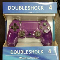 Wholesale White Ps4 Console - Wired Game Controller Purple Blue Black White Joystick Game Pad Double Shock universal USB Controller Console Gamecube for Video Games