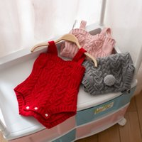 Wholesale Knitted Baby Sweater For Girl - 2017 New Design Baby Rompers Spring And Autumn Children's clothing Grils And Boys Knitting Sweater For 3M -24M