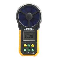 anemómetro de viento al por mayor-Interfaz USB Freeshipping Digital Anemometer TRh Sensor Air Velocidad Velocidad Medidor USB